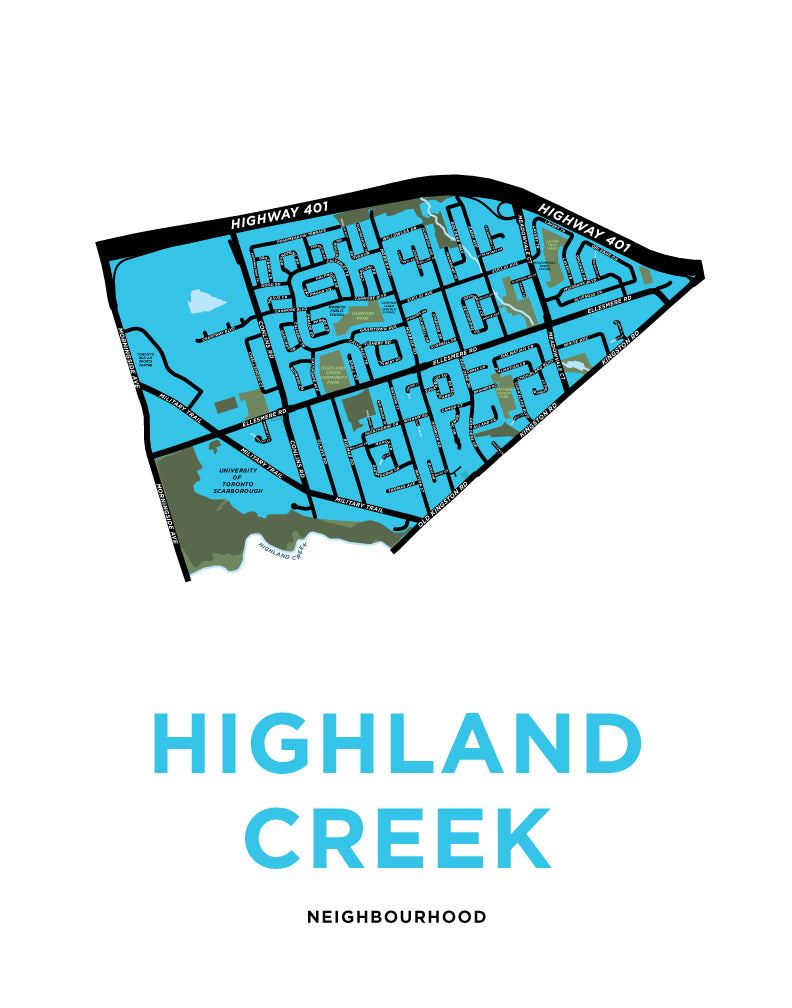 Highland Creek Neighbourhood Map Print