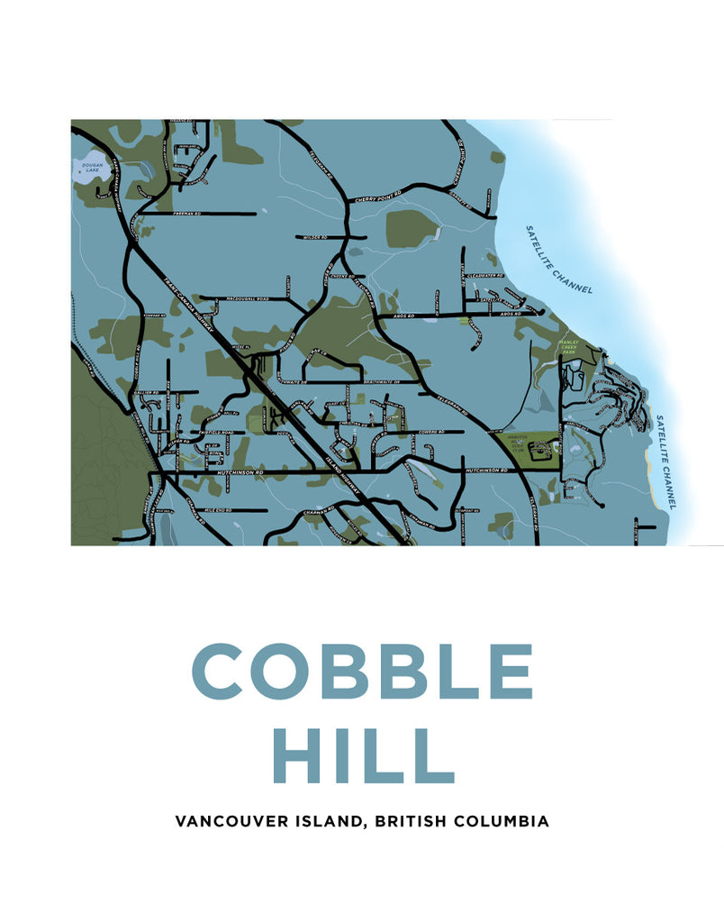 Cobble Hill Map Print