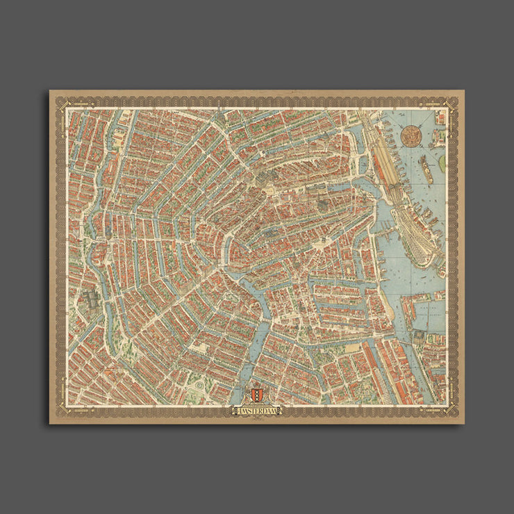 Map of Amsterdam, 1956