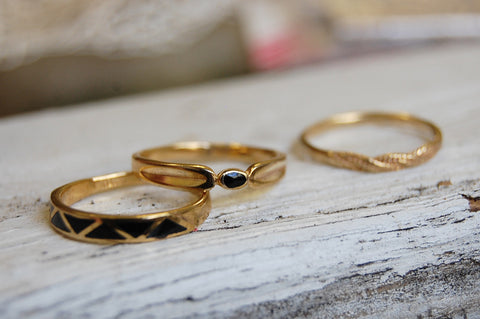 rings set (bronze)