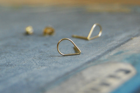 droplet earstuds (925 silver gold-plated)