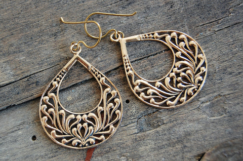 ornate dewdrop earrings