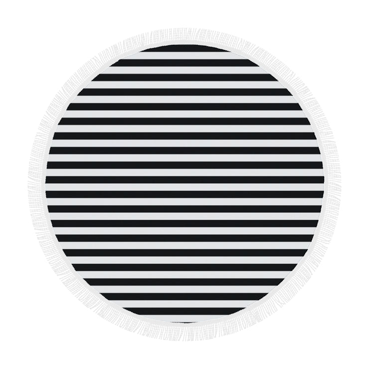"Striped Circular Beach Shawl 59""x 59"" 