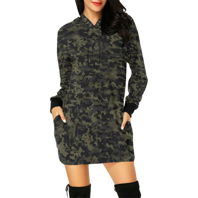 Camo Hoodie Hoodie Mini Dress | XXL | Women's Hoodie Dress | JacksonsRunaway