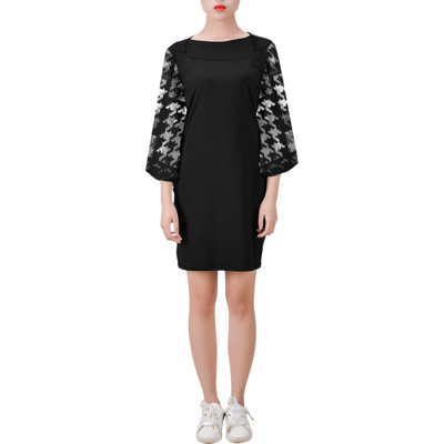 Black Bell Sleeve Dress |  | Bell Sleeve Dress (D52) | JacksonsRunaway