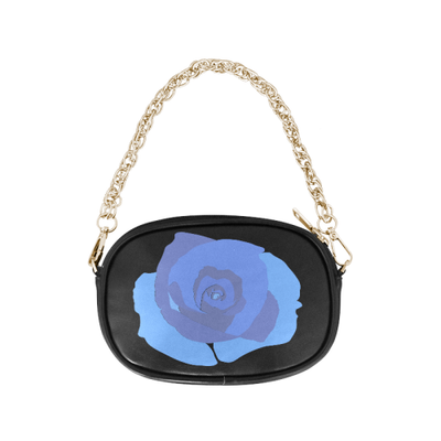 Blue Rose Chain Handbag