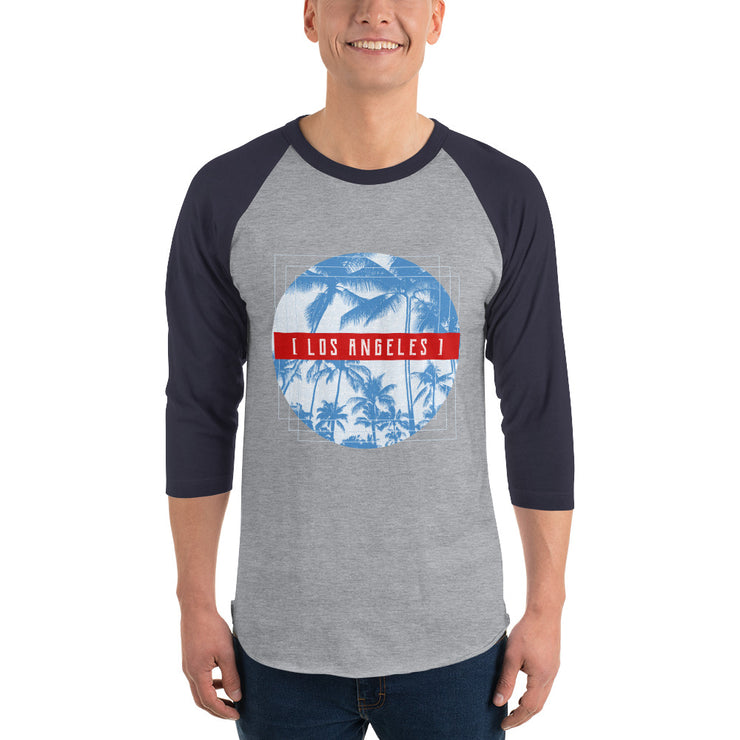 Los Angeles Men's Raglan Shirt | Heather Grey/Navy / 2XL | T-shirt | JacksonsRunaway