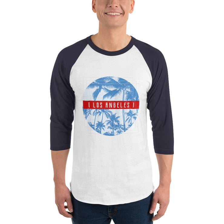 Los Angeles Men's Raglan Shirt | White/Navy / 2XL | T-shirt | JacksonsRunaway