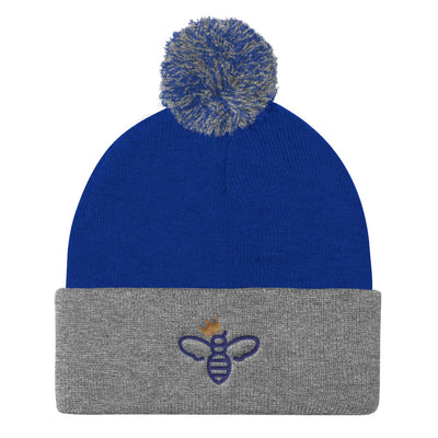 Queen Bee Pom Pom Women's Knit Hat