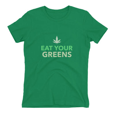 Eat Your Greens Women's t-shirt | Kelly Green / 2XL | Women's T-Shirt | JacksonsRunaway