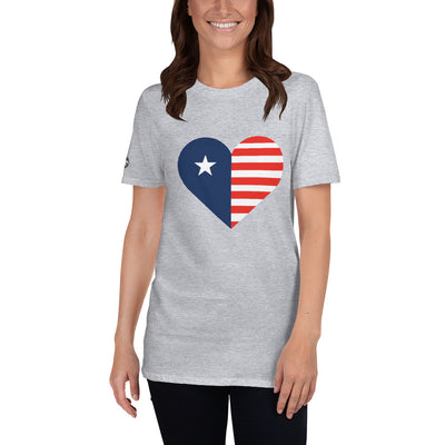 Heart Flag T-Shirt | Sport Grey / 3XL |  | JacksonsRunaway