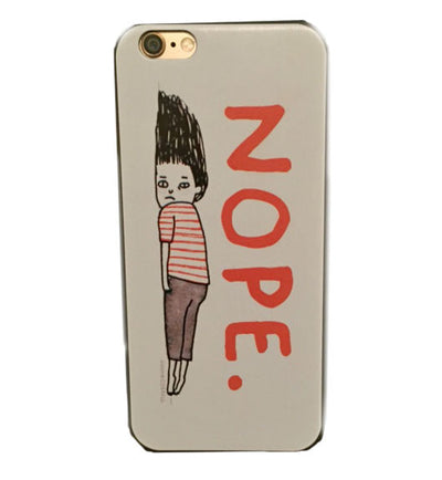"iPhone 6 and 6S ""Nope"" Hard Shell Case 