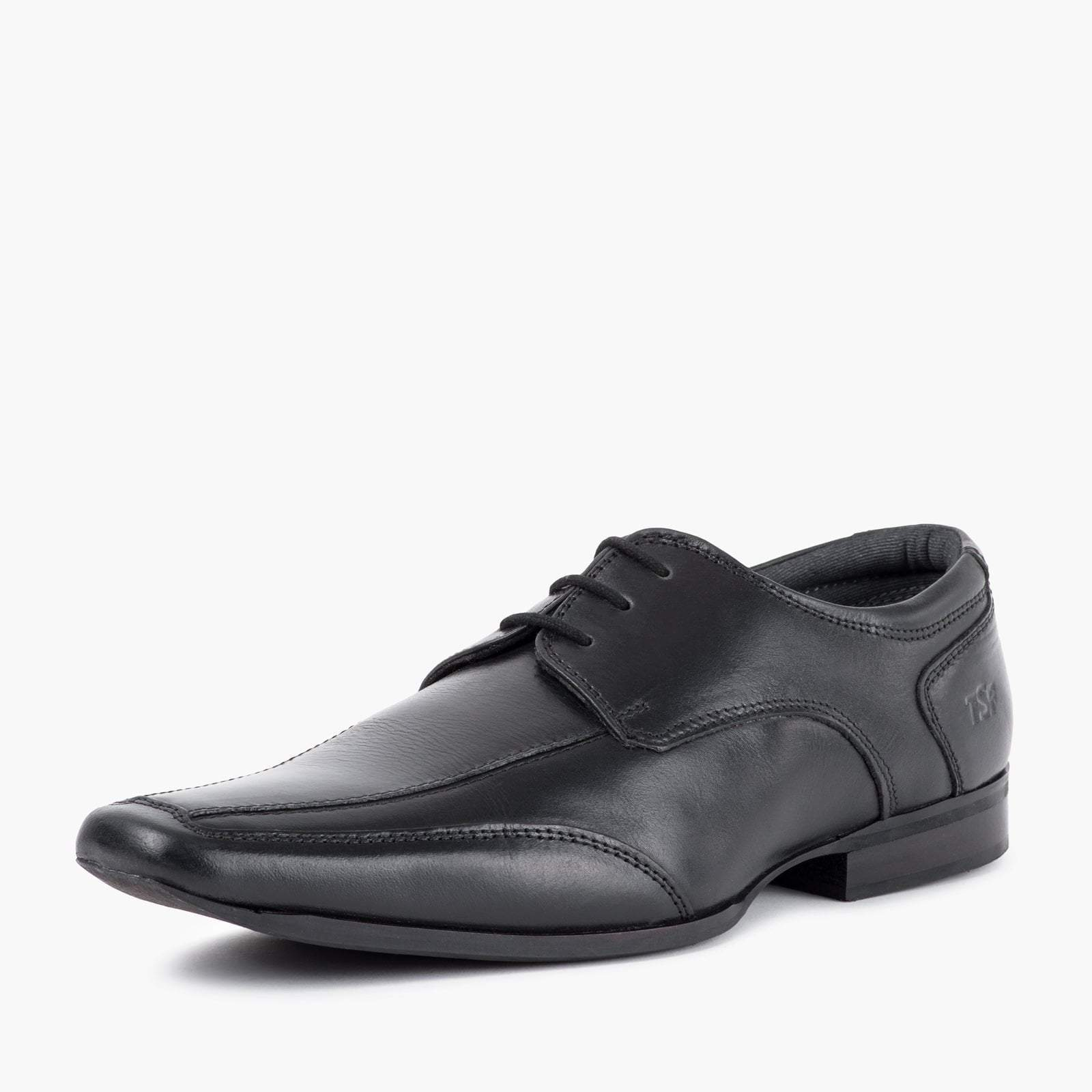 Redfoot Shoes Footwear UK 6 / EURO 39 / US 7 / Black / Leather MENS BLACK CHISELLED TOE DERBY