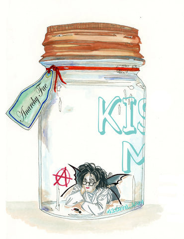Fairy Art- Breakfast Club fairy in a jar anarchy fairy