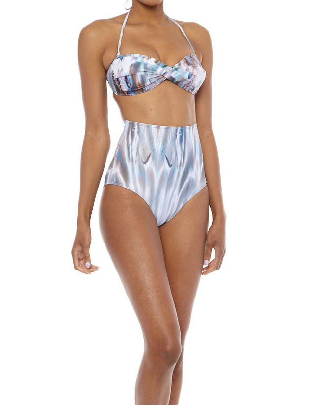 Mona Swims Shell High-Waisted Briefs