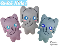 Quick Kids Elephant Sewing Pattern
