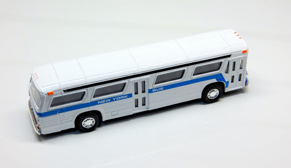 Diecast New York Bus Fishbowl Bus with Pullback Action