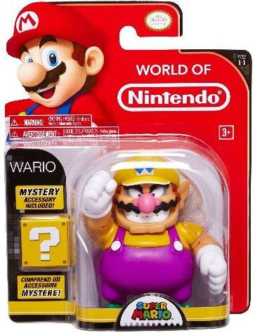 Wario from Mario Brothers 4 inch Action Figure with Accessory