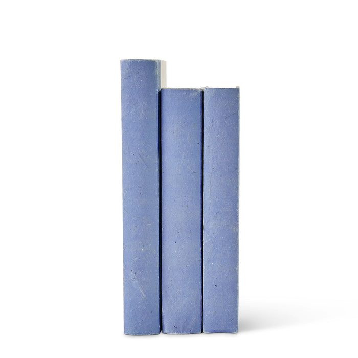 Cornflower Blue Parchment Decorative Books
