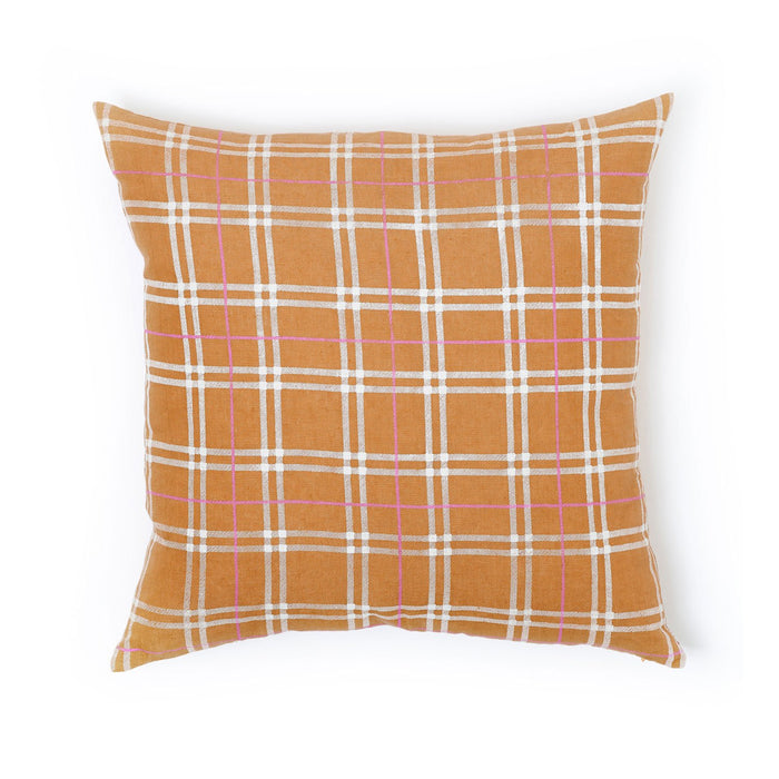 Butterscotch Plaid Pillow