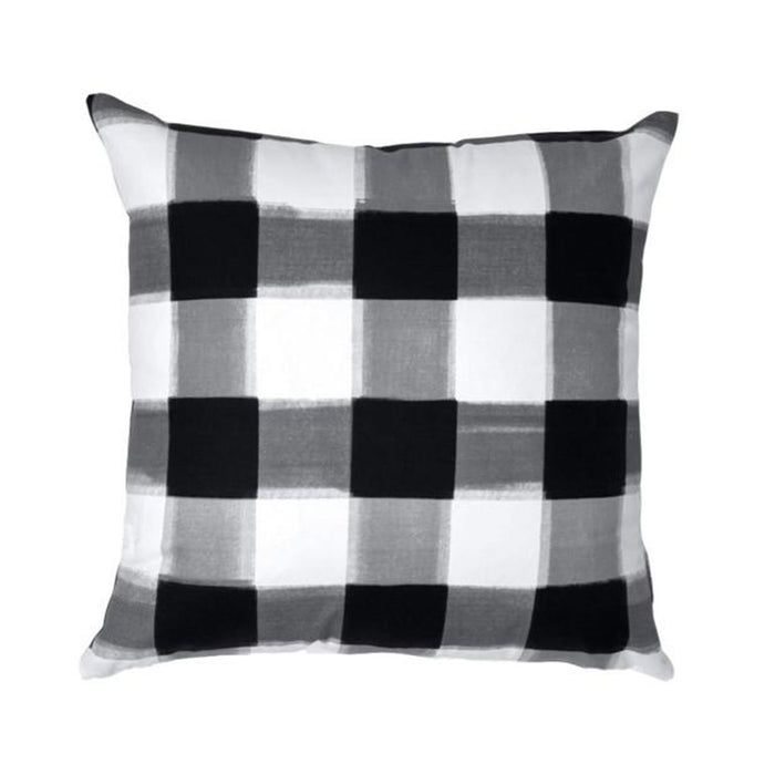 Black Burnside Buffalo Check Pillow