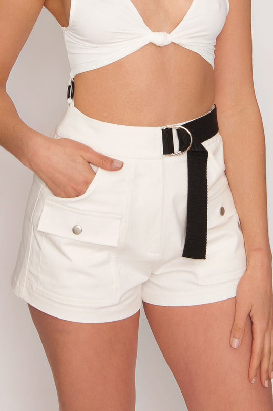 Tiger Mist Aliyah Short - White