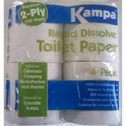 Kampa Rapid Dissolve Toilet Tissue for Chemical toilets-Tamworth Camping