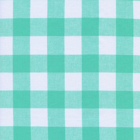 "Checkers 1"" Gingham in Mint Chip"