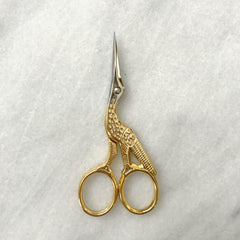 "Gingher 3.5"" Gold Stork Embroidery Scissors"