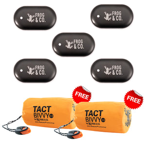 5 QUICKHEAT RECHARGEABLE HAND WARMERS