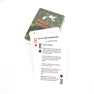 Survival Tips Playing Cards By Survival Frog - Survival Frog