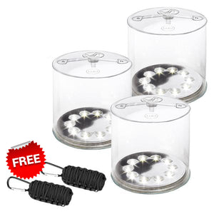 UPGRADE TO 3 LUCI ORIGINAL SOLAR INFLATABLE LIGHT GET FREE PARACORD SURVIVAL KITS