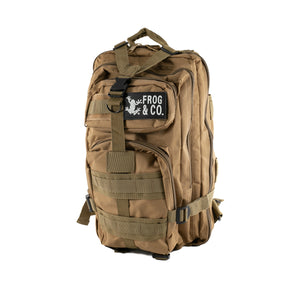 Tan Tactical Backpack front