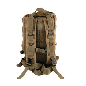 Tan Tactical Backpack showing back