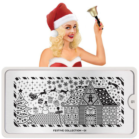 MoYou London Festive 01 stamping plate