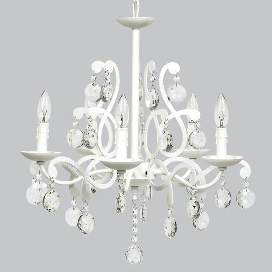 5 Light Elegance Chandelier - White-Chandeliers-Default-Jack and Jill Boutique