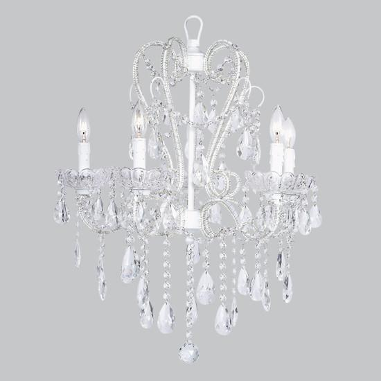 Chandelier - 5 Light - Carousel - White-Chandeliers-Default-Jack and Jill Boutique