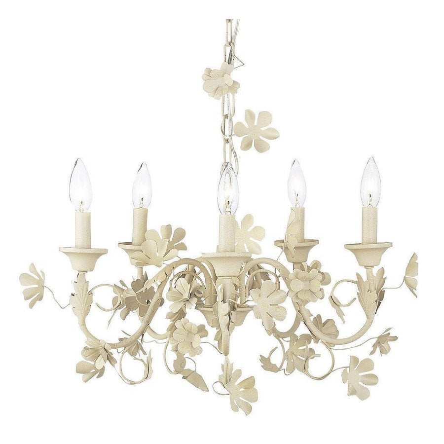 Chandelier - 5 Light - Ivory Flower Garden-Chandeliers-Default-Jack and Jill Boutique