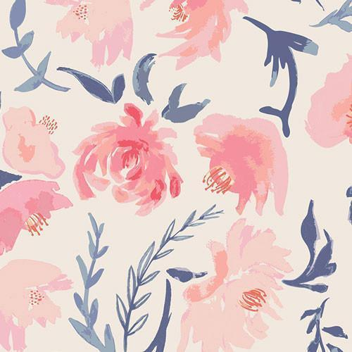 Crib Sheet | Floral Rosewater in Peach