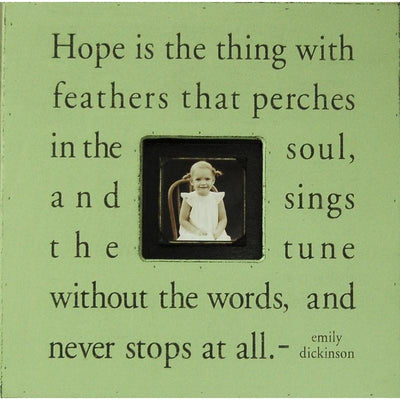 "Handmade Wood Photobox with quote ""Hope Is the Thing""-Photoboxes-Default-Jack and Jill Boutique"