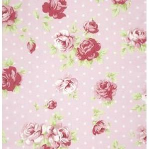 Lulu Roses Pink Fabric | 100% Cotton