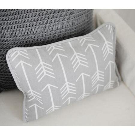 Pillow | Gray Arrow Wanderlust in Gray