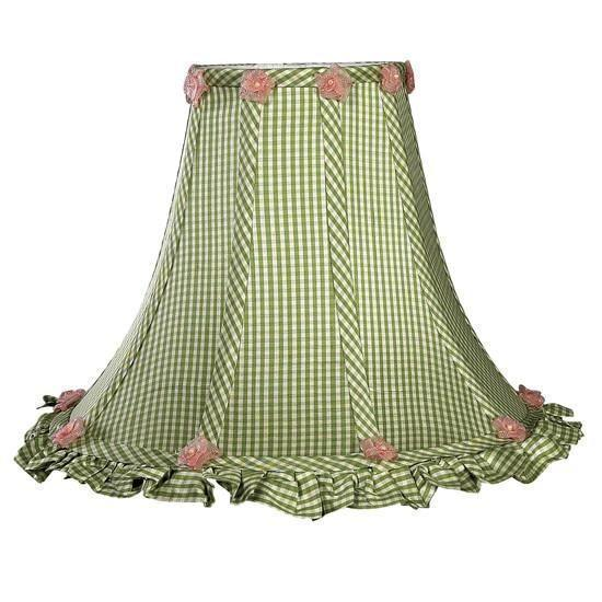 Shade - LG - Ruffled Edge - Green Check