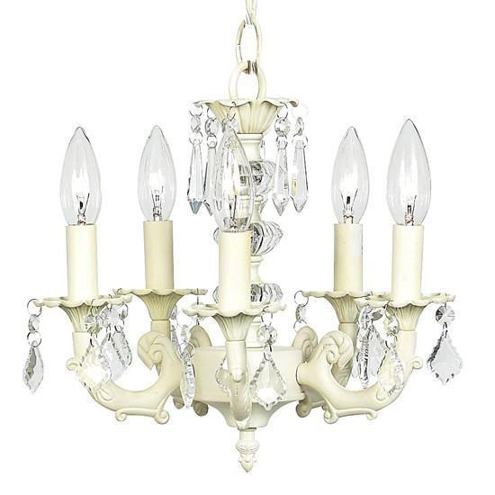 Stacked Glass Ball Ivory Five-Light Mini Chandelier-Chandeliers-Default-Jack and Jill Boutique