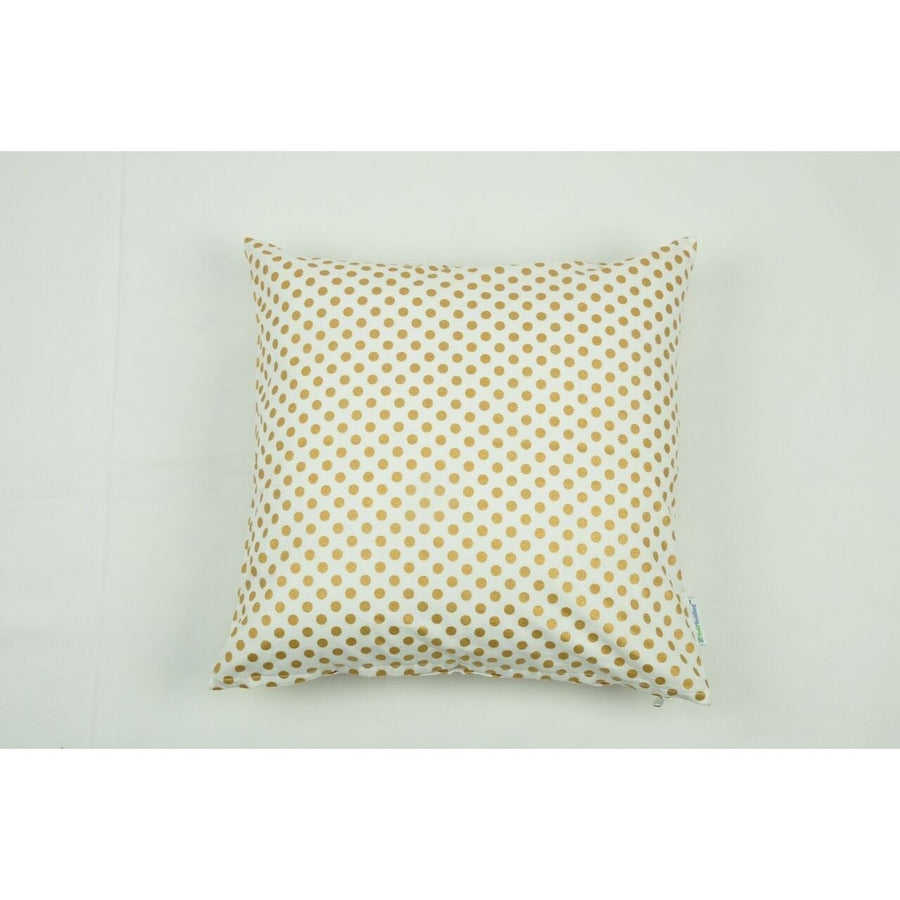 Throw Pillow Cover | Metallic Gold Dots