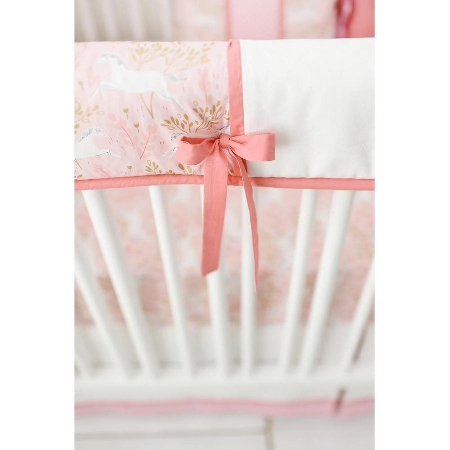 Unicorn in Pink Crib Baby Bedding Set - Unicorn Crib Bedding
