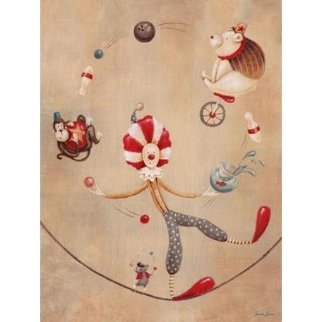 Vintage Circus Clown | Canvas Wall Art