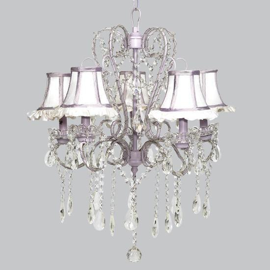 Whimsical Lavender 26-Inch Five Light Chandelier-Chandeliers-Default-Jack and Jill Boutique
