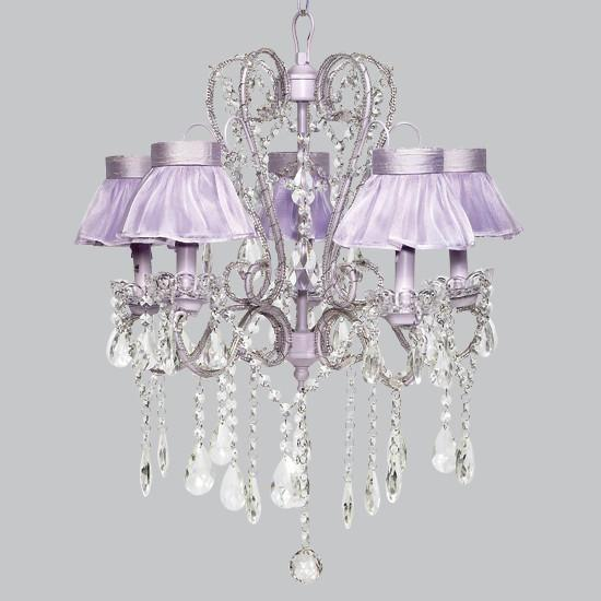 Whimsical Lavender Five Light Chandelier-Chandeliers-Default-Jack and Jill Boutique