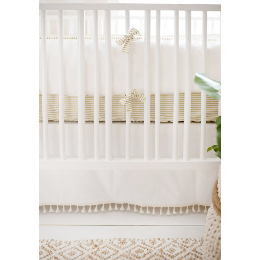 White Gold Dust Baby Bedding Set